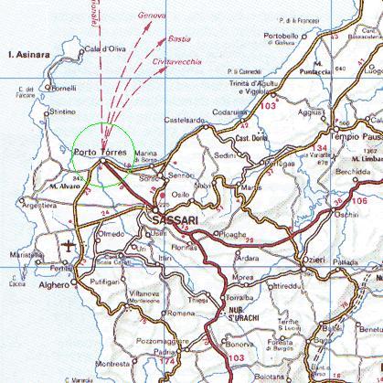 Cartina Sardegna Porto Torres.Mappa Zona Di Porto Torres Nord Ovest Sardegna