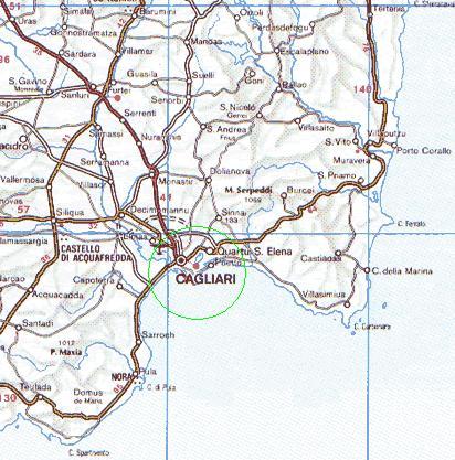 Mappa Sardegna Zona Cagliari.Mappa Zona Di Cagliari Sud Sardegna